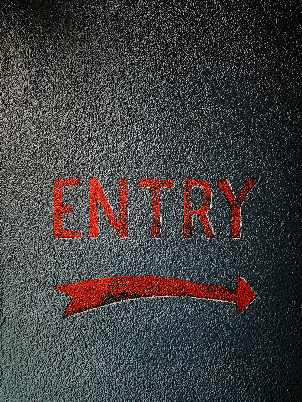 red Entry signage