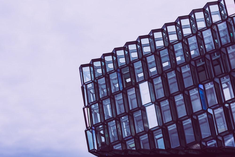 black glass building