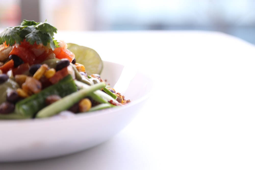 vegie dish on white plate