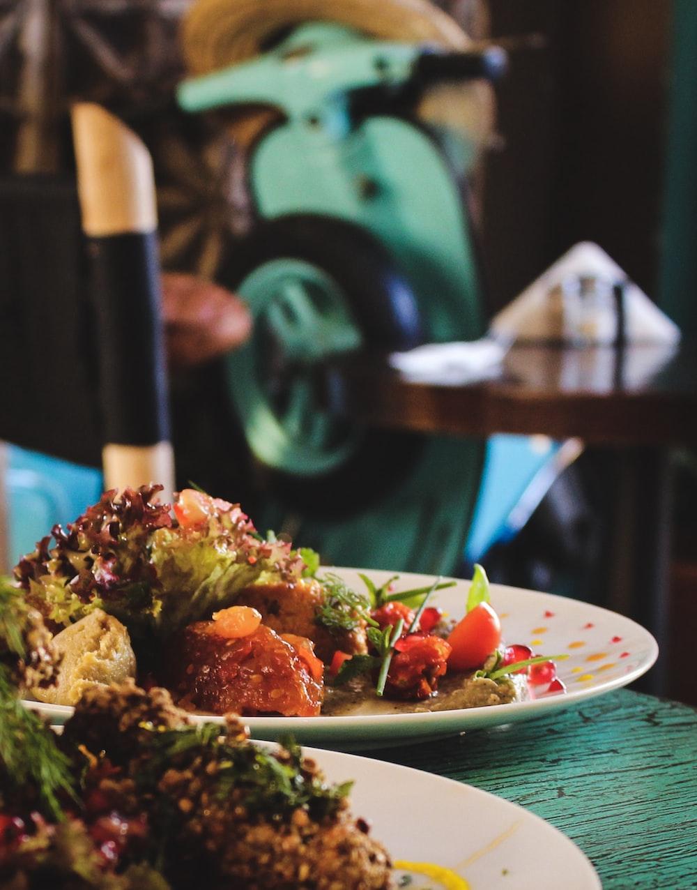 salad dish served on plate