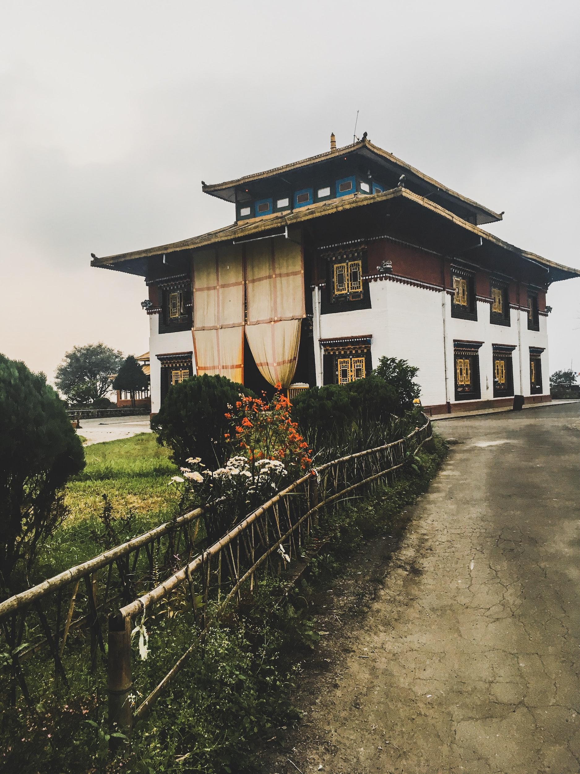 beautiful architecutre in Sikkim