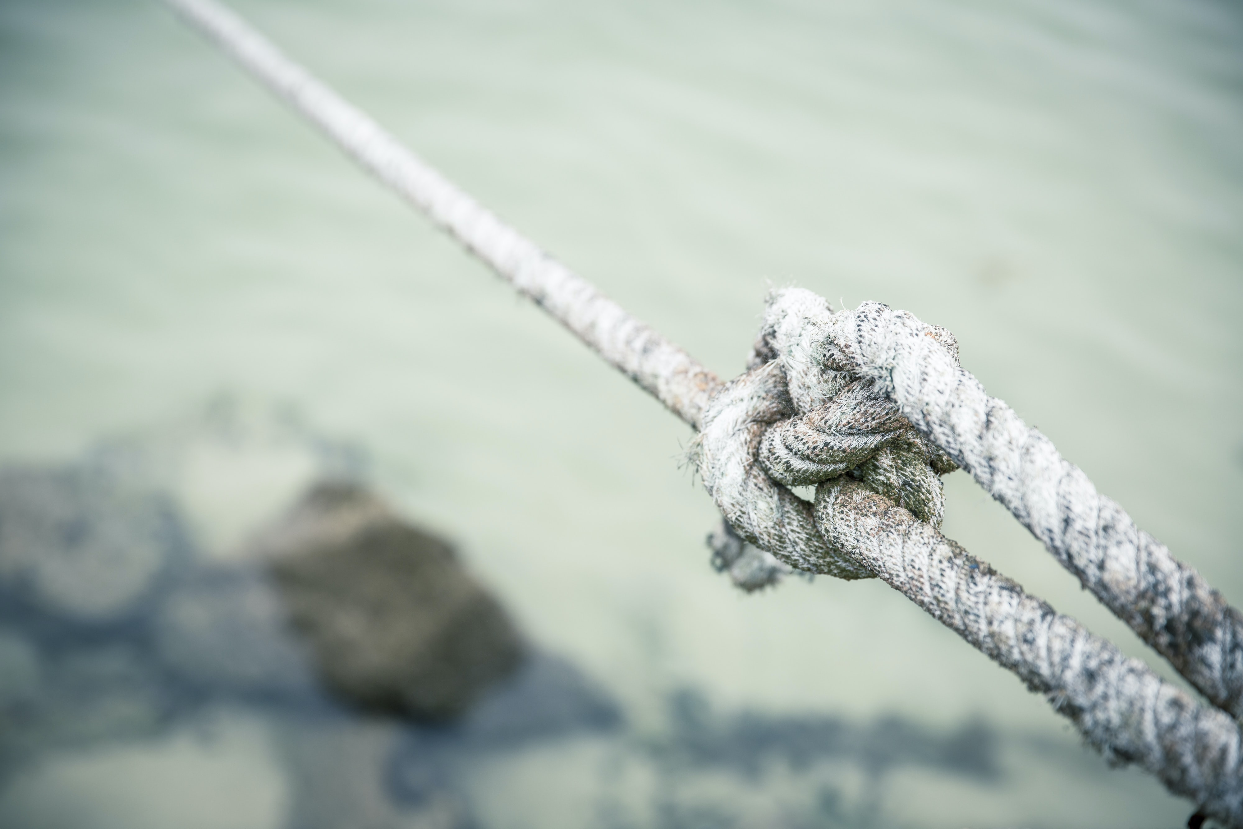 gray tied rope