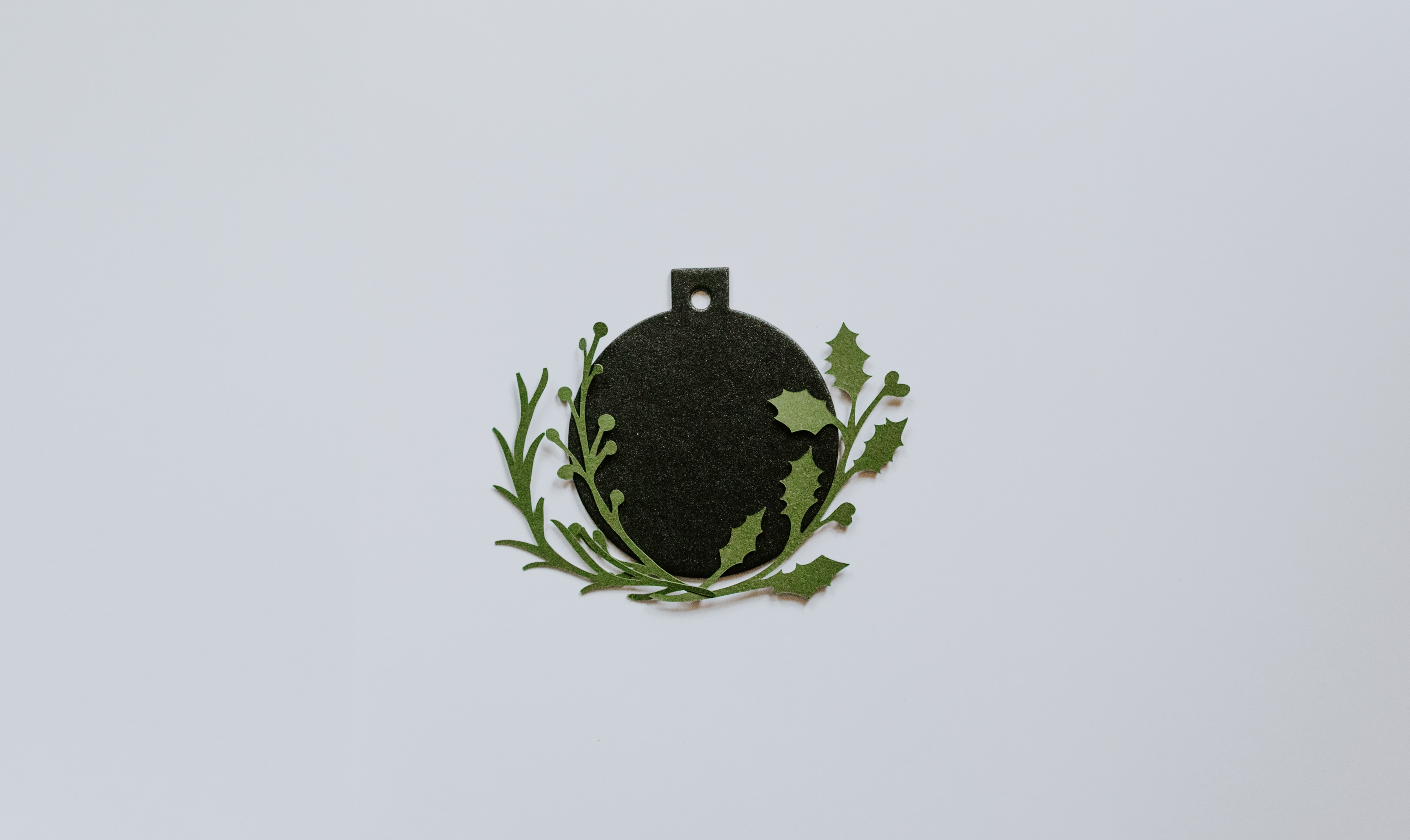 black and green floral wall decor