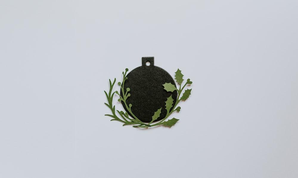 black and green globe decoration