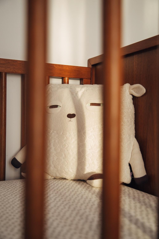 white animal plush toy