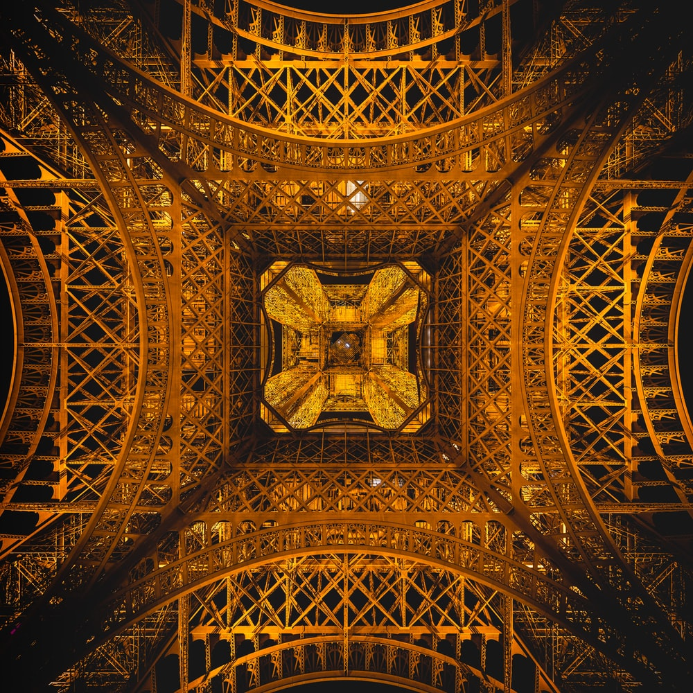 low photography of Eiffel Tower