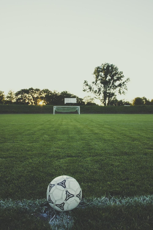 white and black soccer ball
