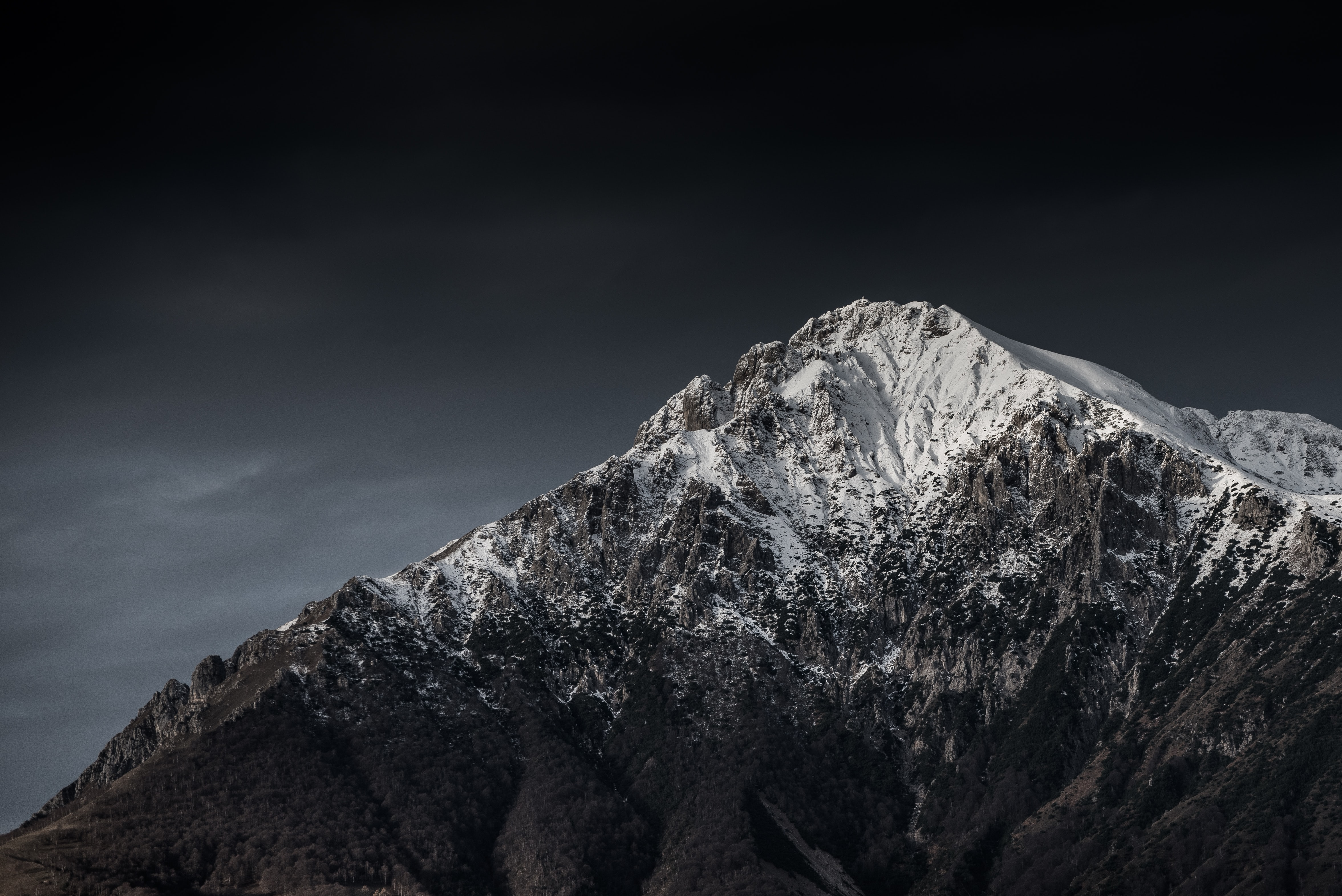snow-covered mountain summit