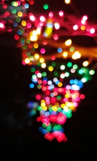 assorted-color bokeh photography