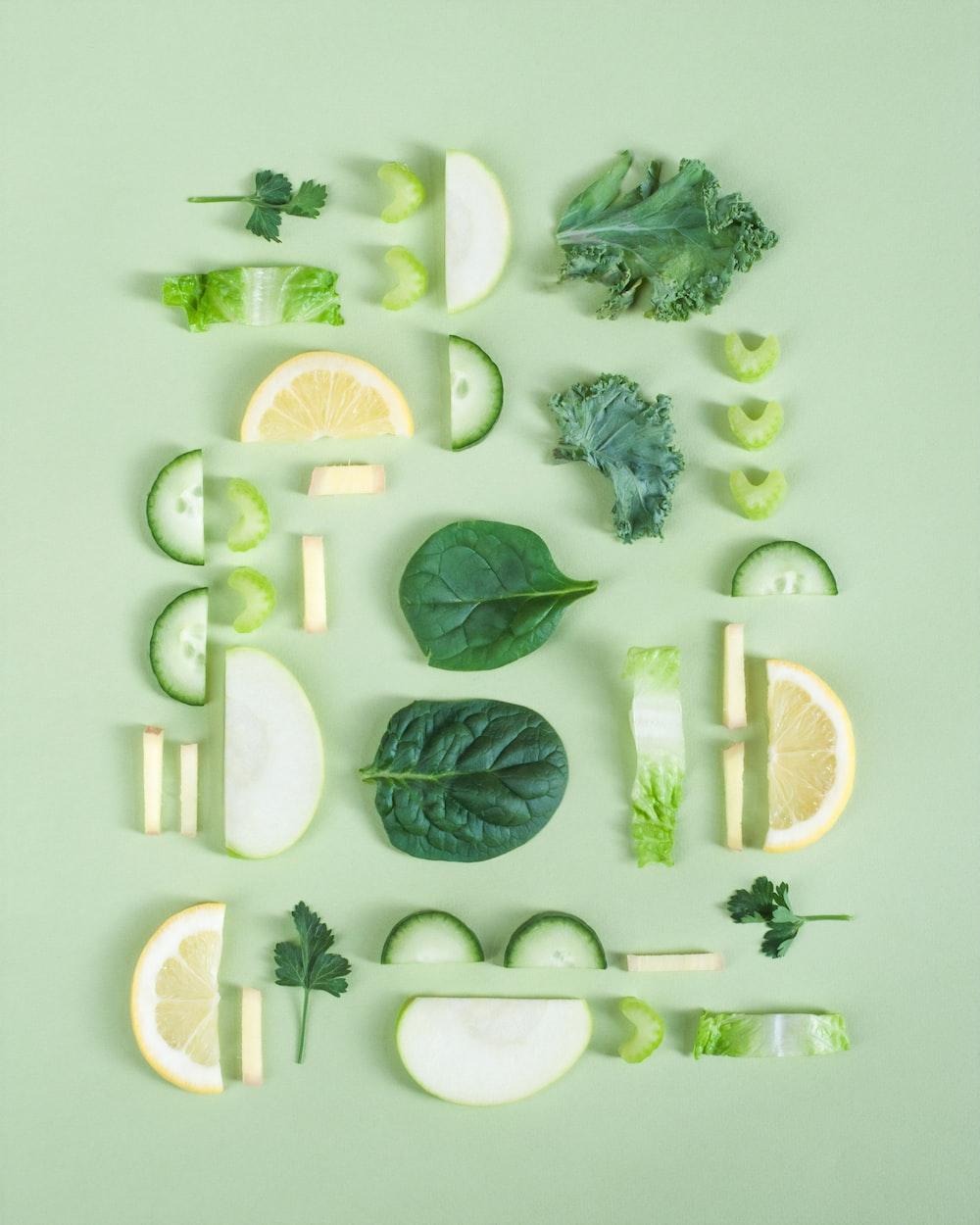 sliced fruit and vegetables