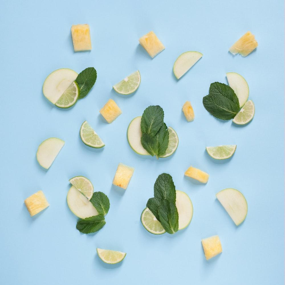 sliced lemon lot