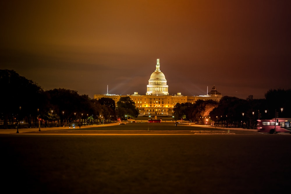U.S. capitol Hill during nighttime