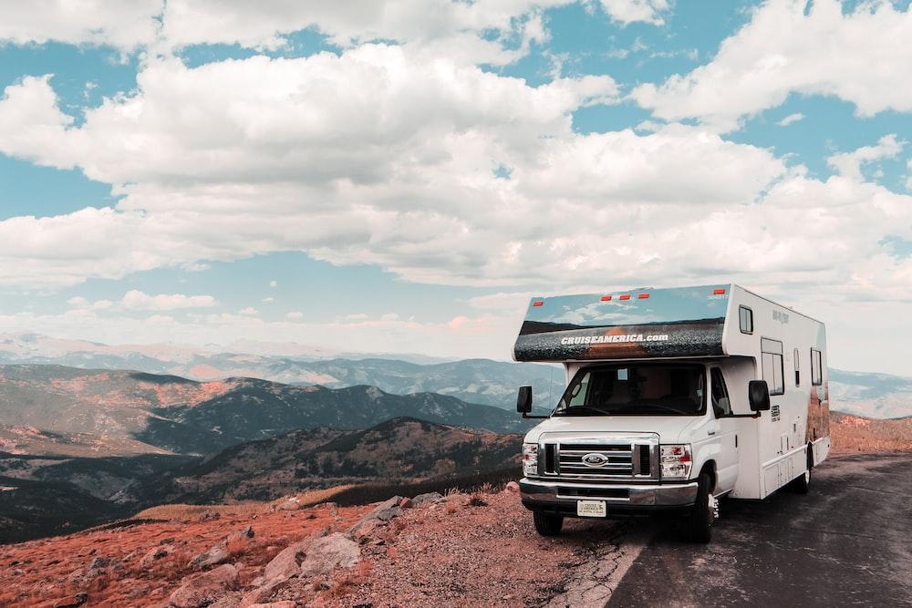 white recreational van