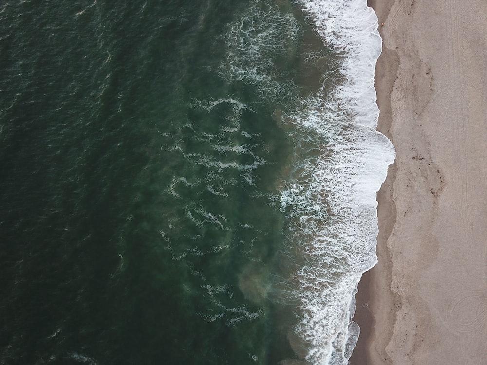 aerial photography seashore