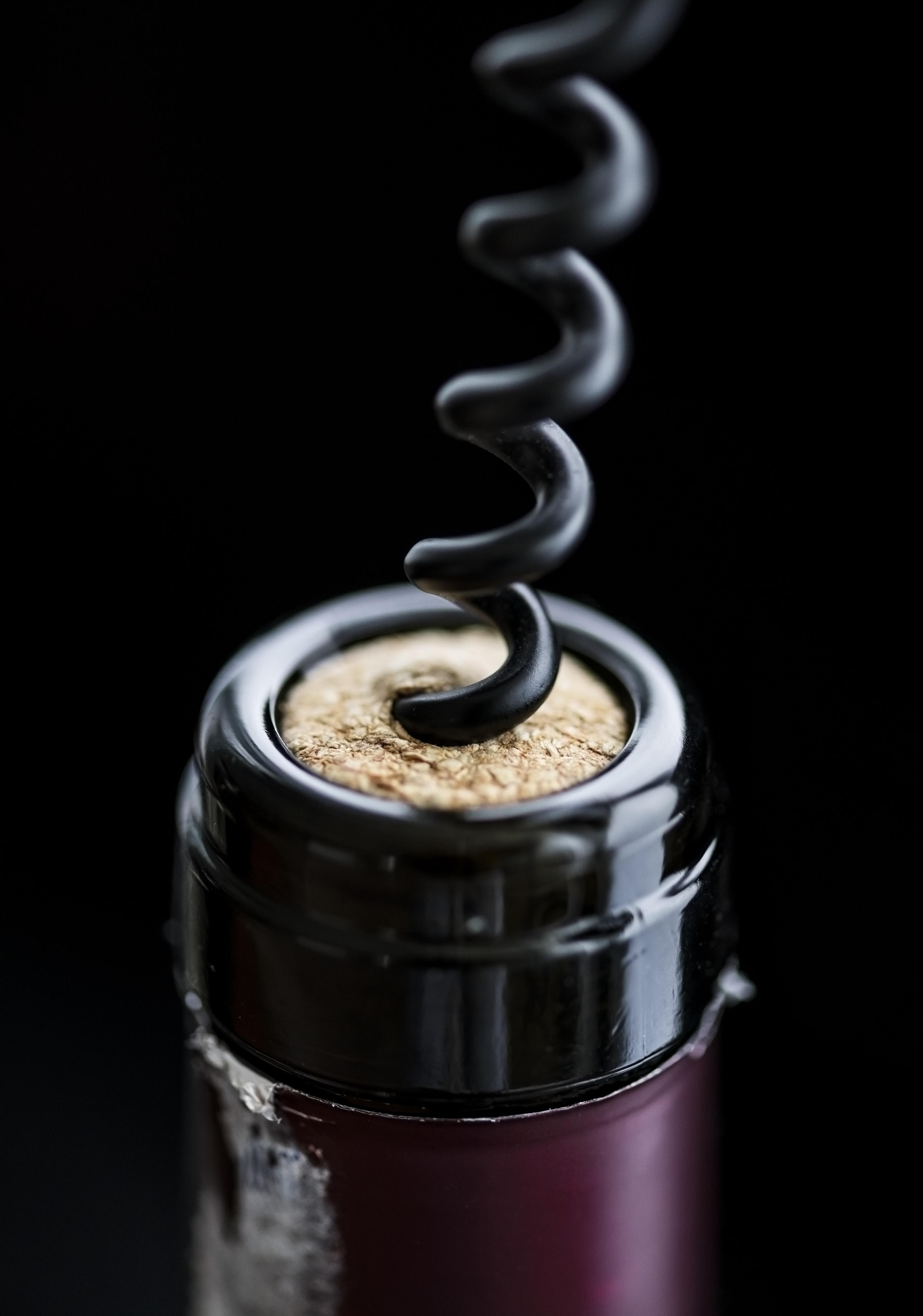 black and gray cork remover