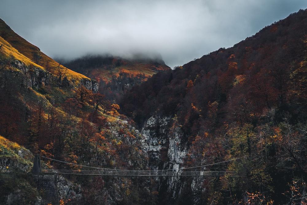 bridge between two mountains