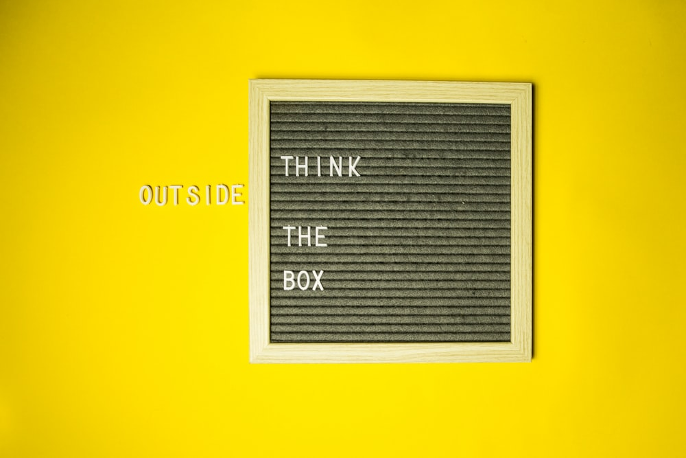 Think outside the box clip art