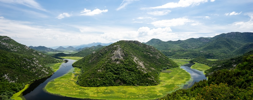 Crnojevic-Flussschleife in Montenegro