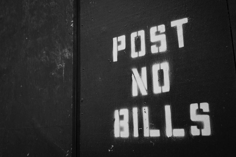 Post No Bills signage