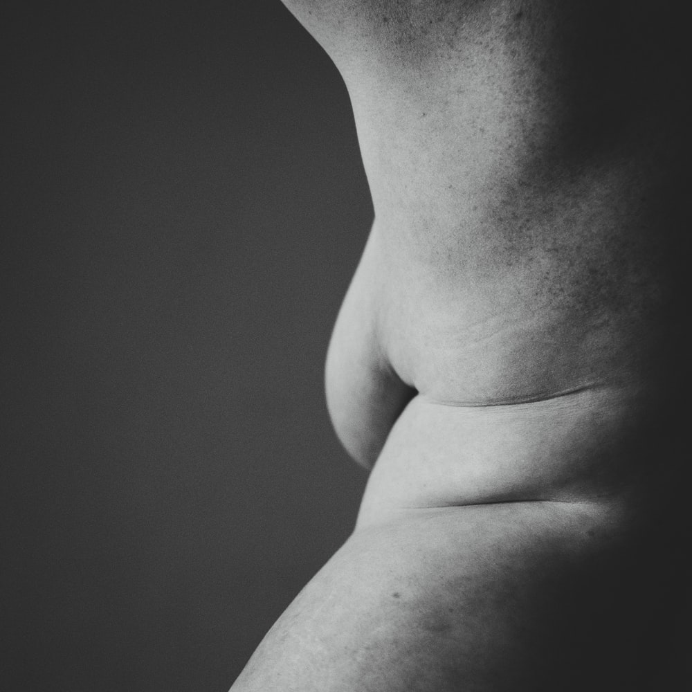 grayscale photography of skin