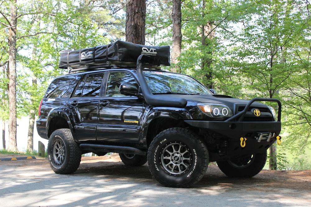 black Toyota SUV