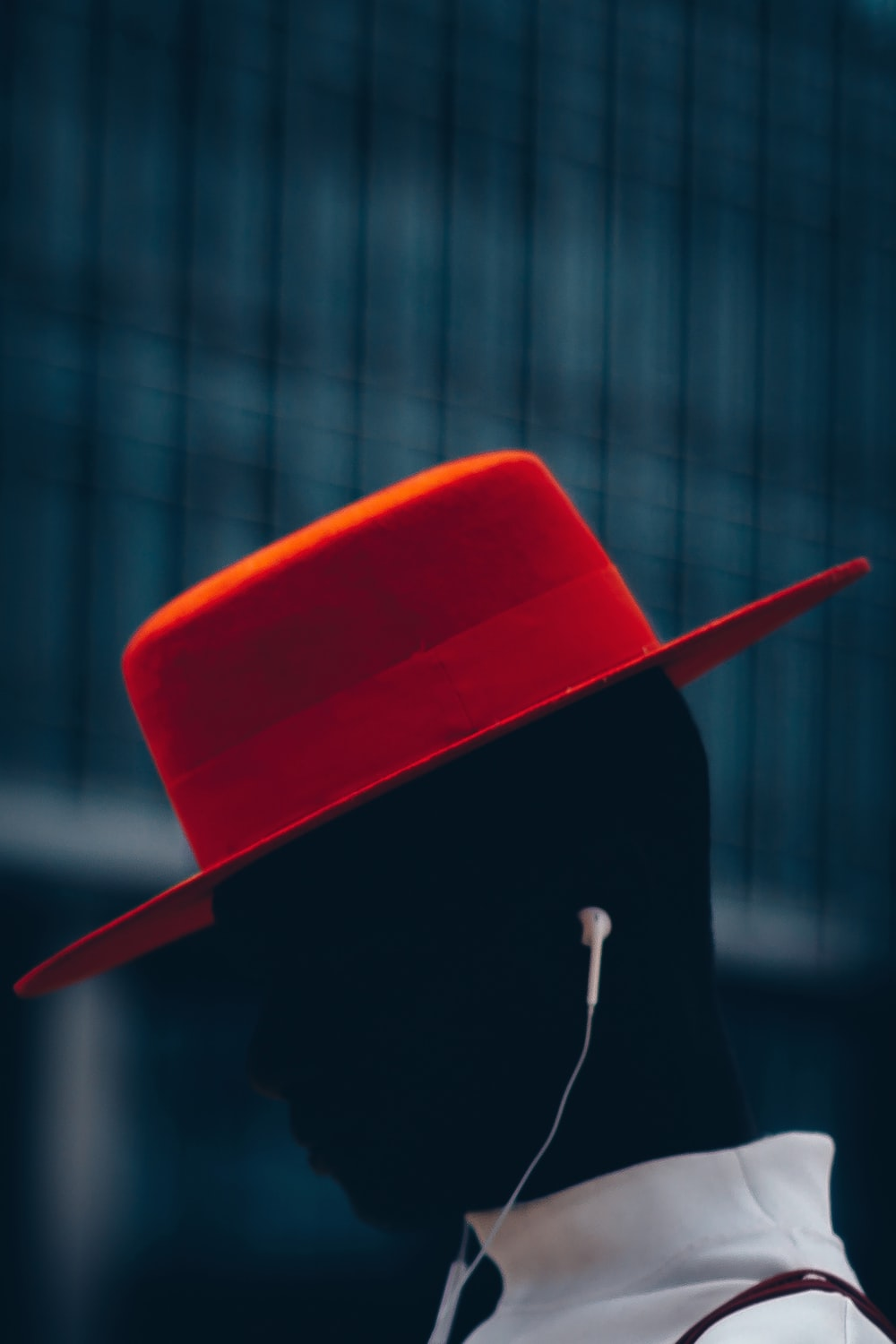 person wearing red hat