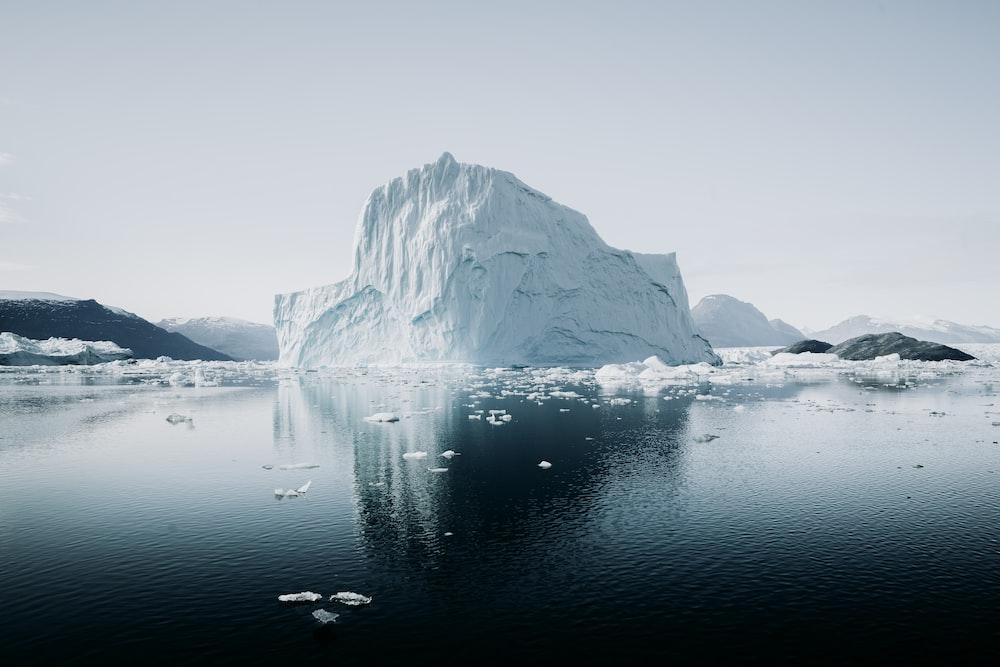 ice berg beside river