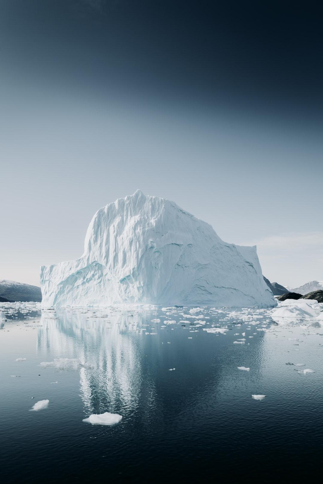 Arctic Iceberg, reflected