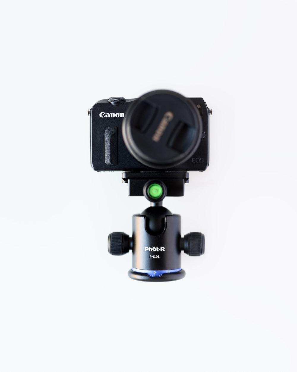 black Canon camera