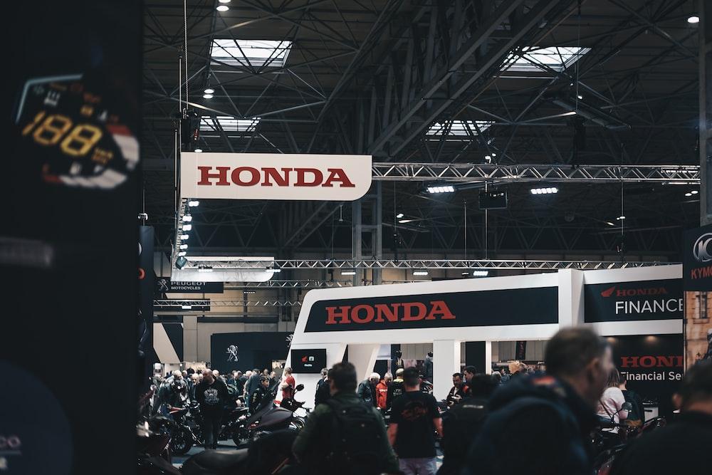 people gathered inside Honda venue