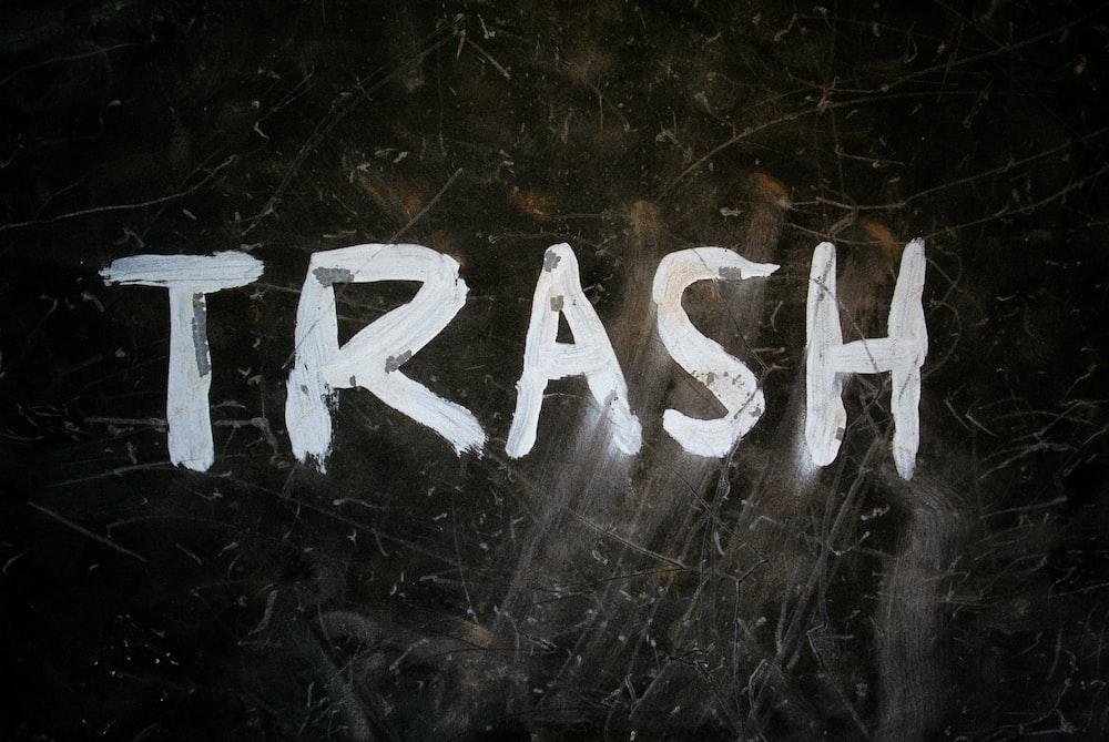 Trash signage