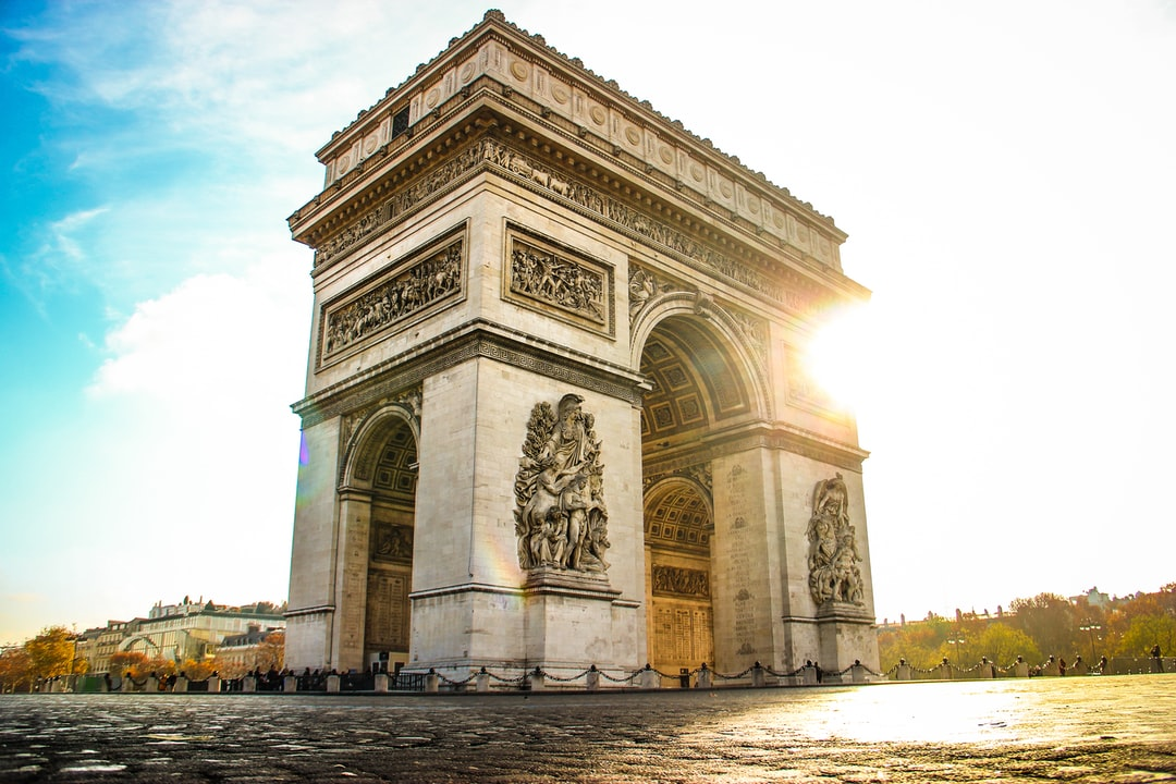 Morning sun at Arc de Triomphe