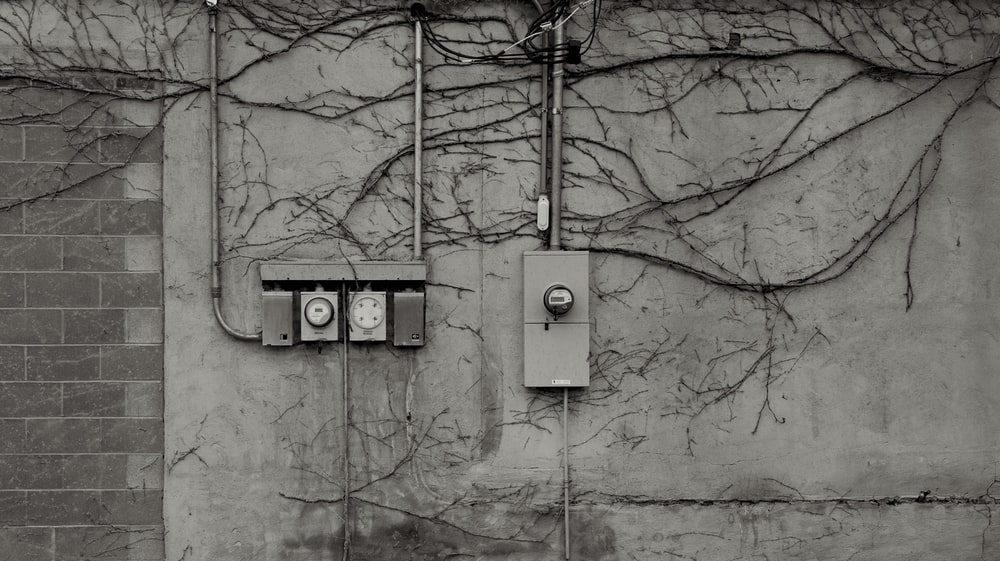 electric meter attached on the wall