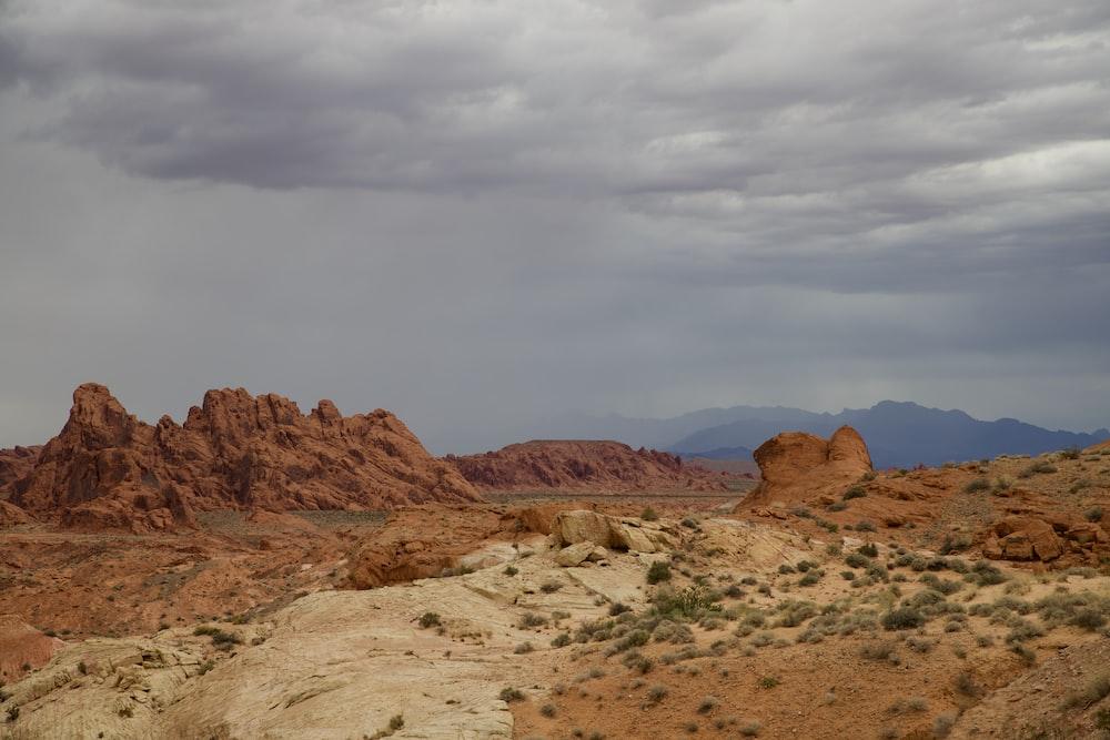 brown rock mountain