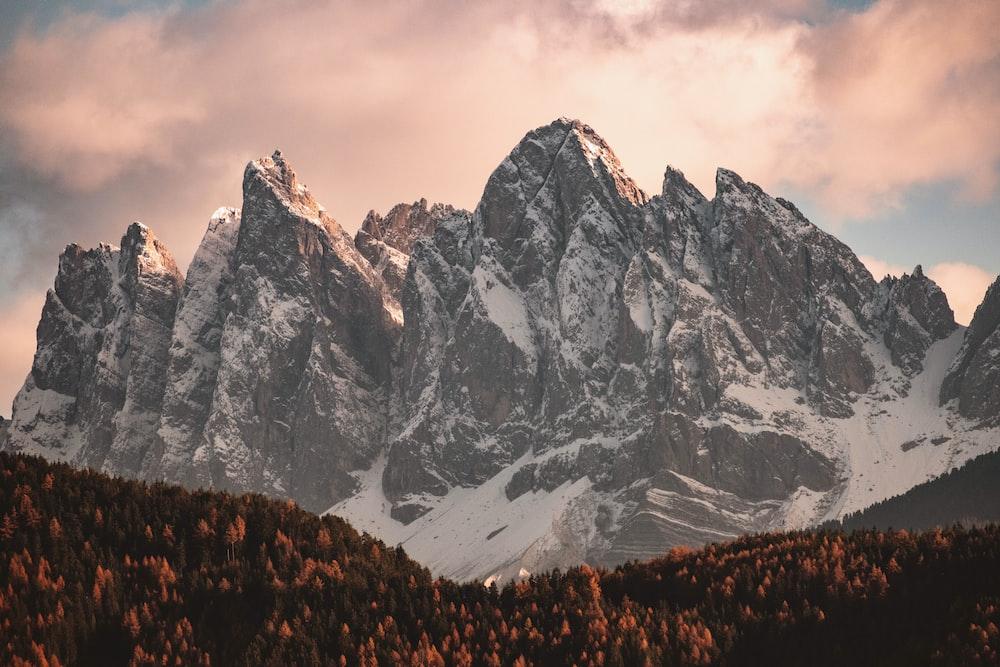 gray rock mountain illustration