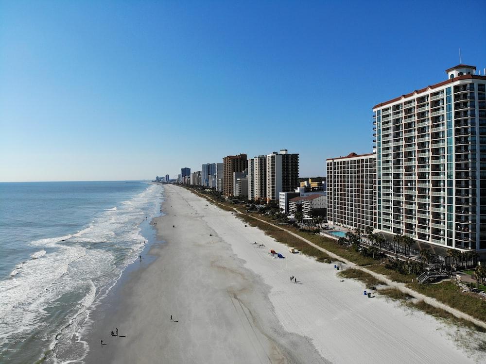 high-rise buildings near seashore