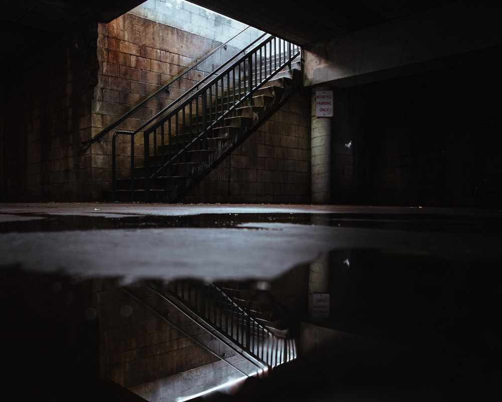 empty stairs in the building