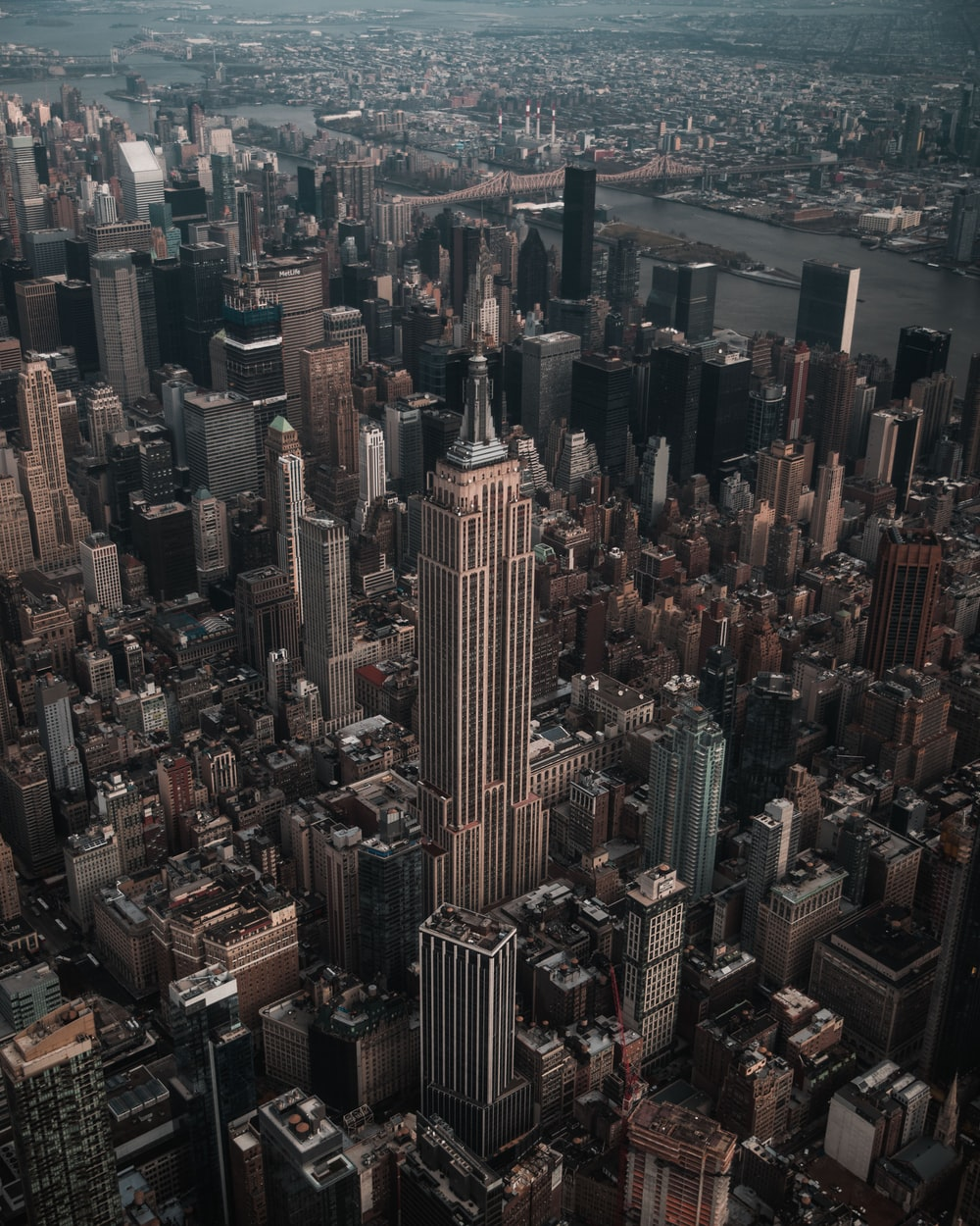 aerial photography of Empire State Building