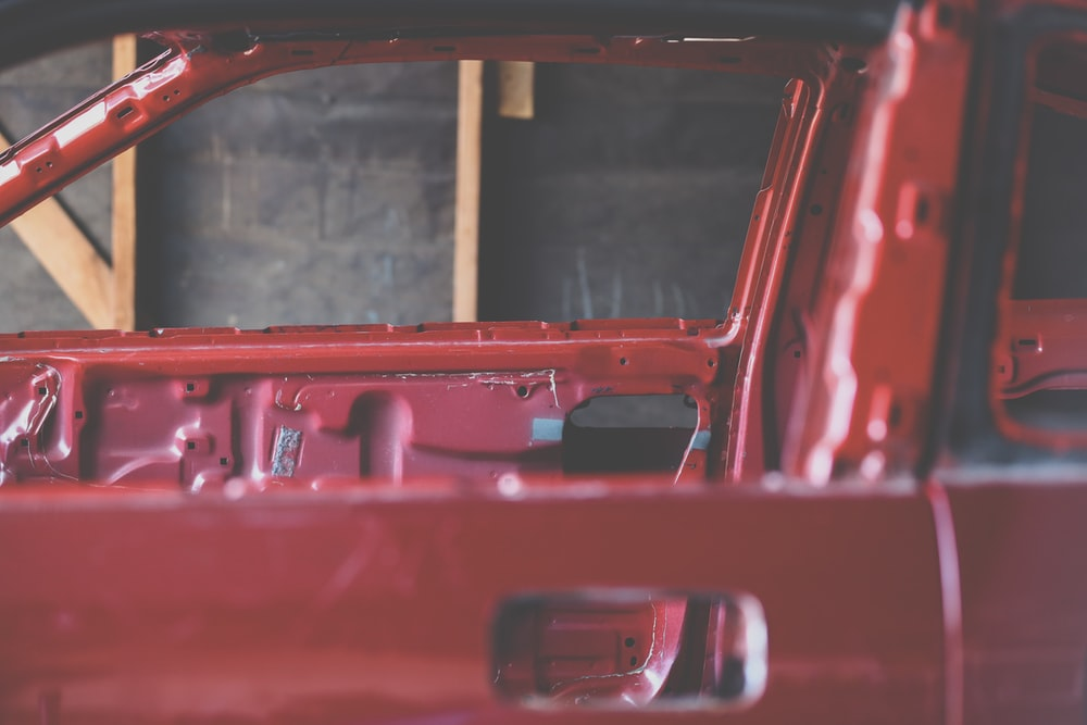 red vehicle frame