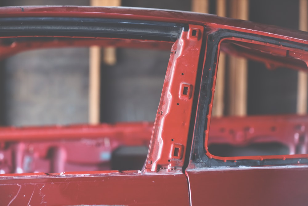 red vehicle