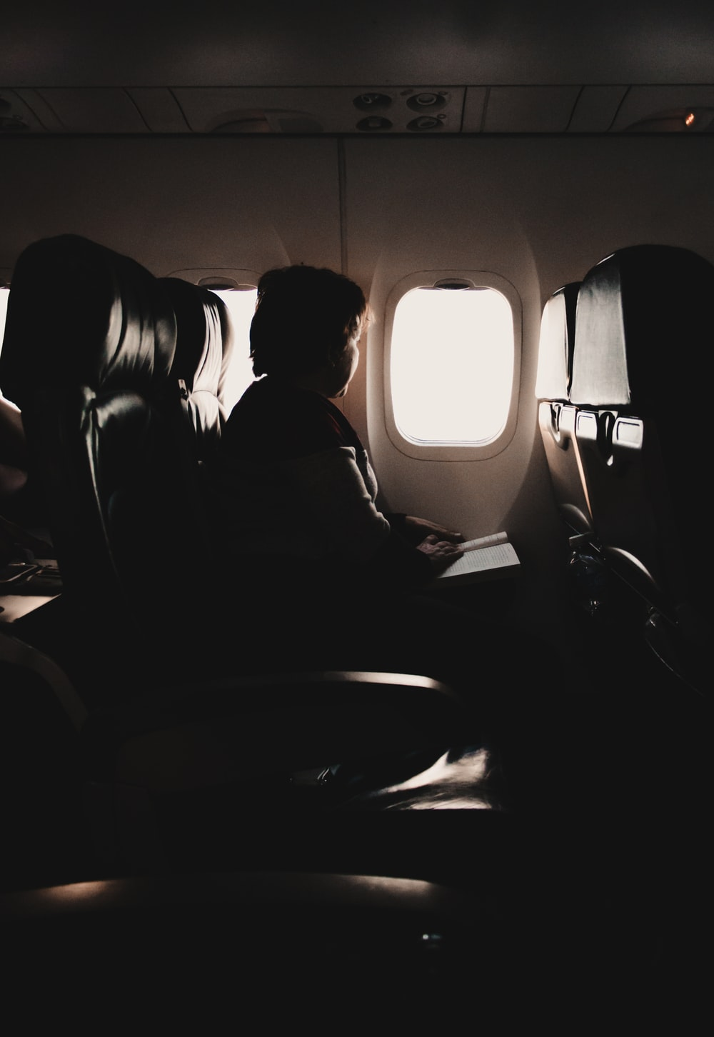 person riding plane