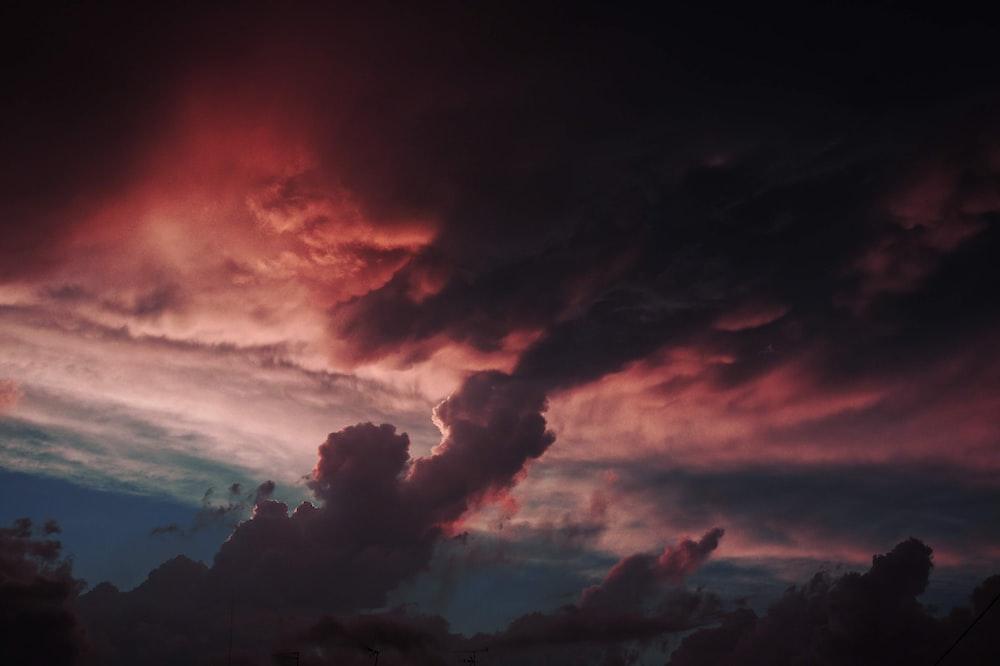 black clouds photo