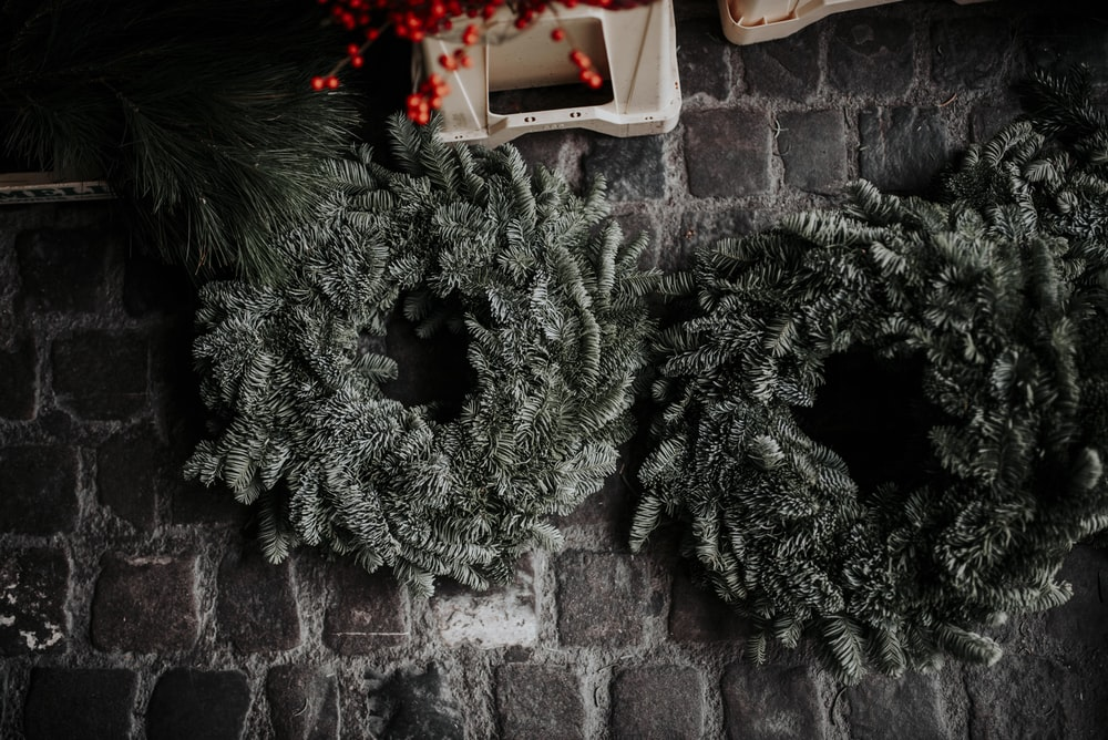 two green wreath