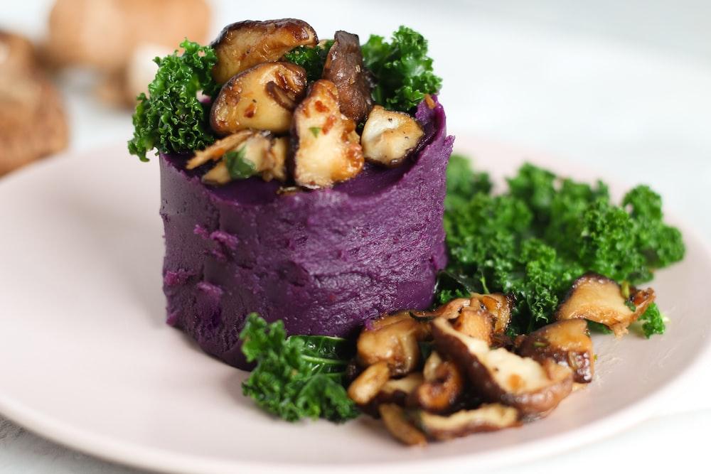 food dish on palte
