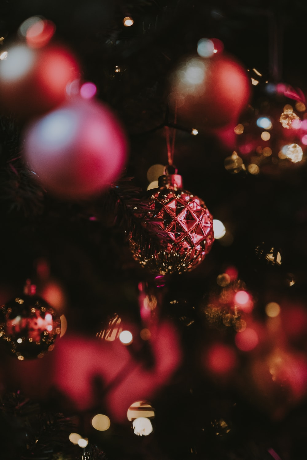 baubles in Christmas tree