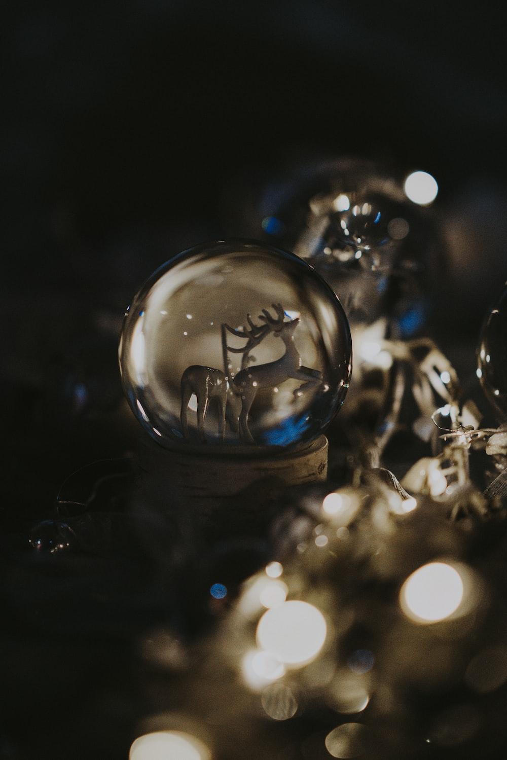 deer glass globe decor