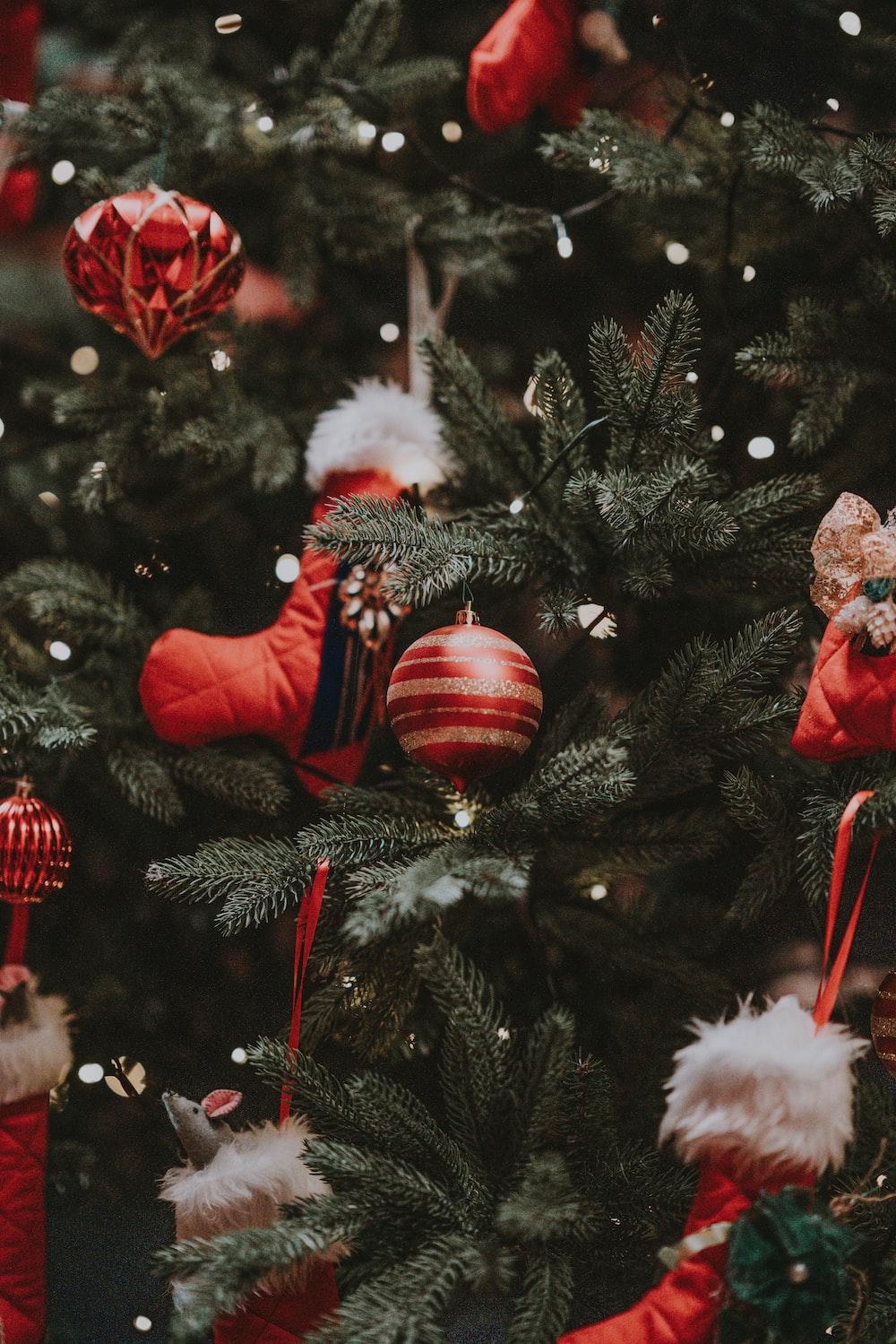 Christmas tree with decor lot