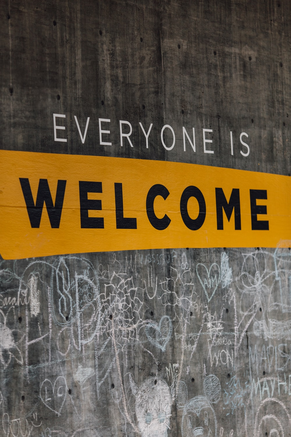 Everyone is Welcome signage