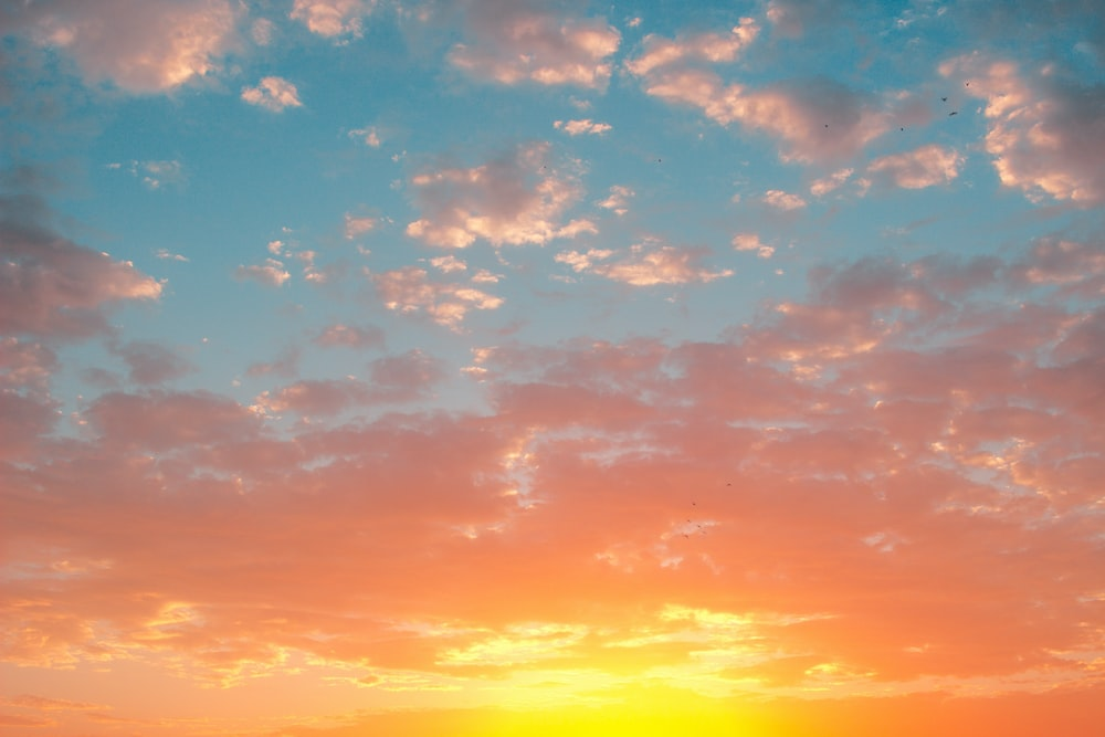 Orange And Blue Sky With Clouds Photo Free Nature Image On Unsplash