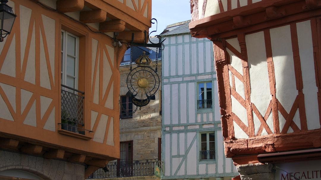 Photo prise dans les rues de la ville médiévale